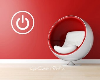 Power Button Decal Electronic Icon Decal Power Icon Decal