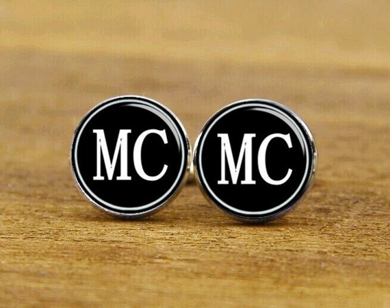 monogram cufflinks, custom initial cufflinks, custom wedding cufflinks, groomsman gifts, round or square cufflinks, tie clip or matching set