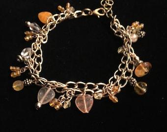 Golden yellows charm bracelet