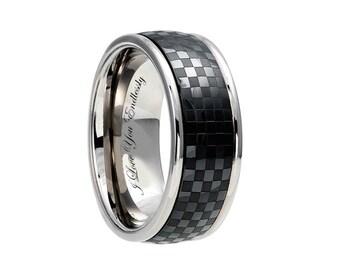 mens titanium ring engagement ring titanium wedding bands titanium wedding ring - Mens Wedding Rings Titanium