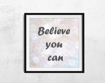 Typography Wall Art - Inspirational Wall Art - Typography Home Decor - Typography Wall Decor - Inspirational Wall Decor - Quote Wall Art