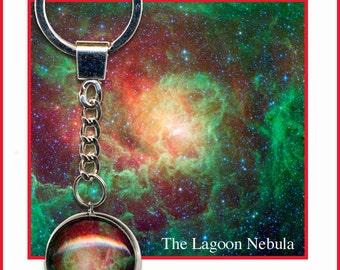 Lagoon Nebula keychain