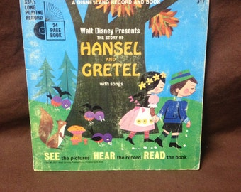 Hansel And Gretel Record And Book (1967, Disney)