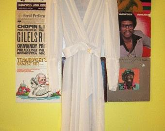 Stuart Alan Sheer Drape Dress with Lace Detail 70s