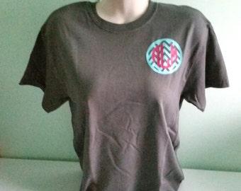 Monogrammed Chevron Circle Short Sleeve. Chevron Circle. Circle Monogram. Monogram Shirt. Monogrammed Shirt. Monogrammed. Monograms. Shirt.