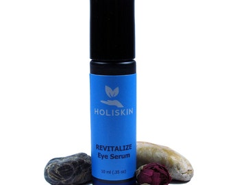 REVITALIZE Eye Serum for Dark Circles Puffy Eyes - Eyelash Serum Eyelash Growth - Valentines Day Gift - Helichrysum Rosehip Oil Roll On