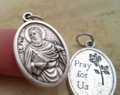 Spectacular St. Paul Medal, Patron Saint, Apostle Paul,  Holy Charm, Catholic Supply, Rosary Parts