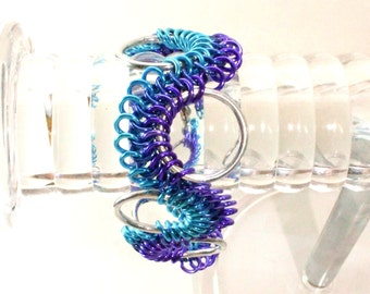 Blue Ombre Chainmaille Bracelet - Aluminum - Sirith - Chainmail Jewelry