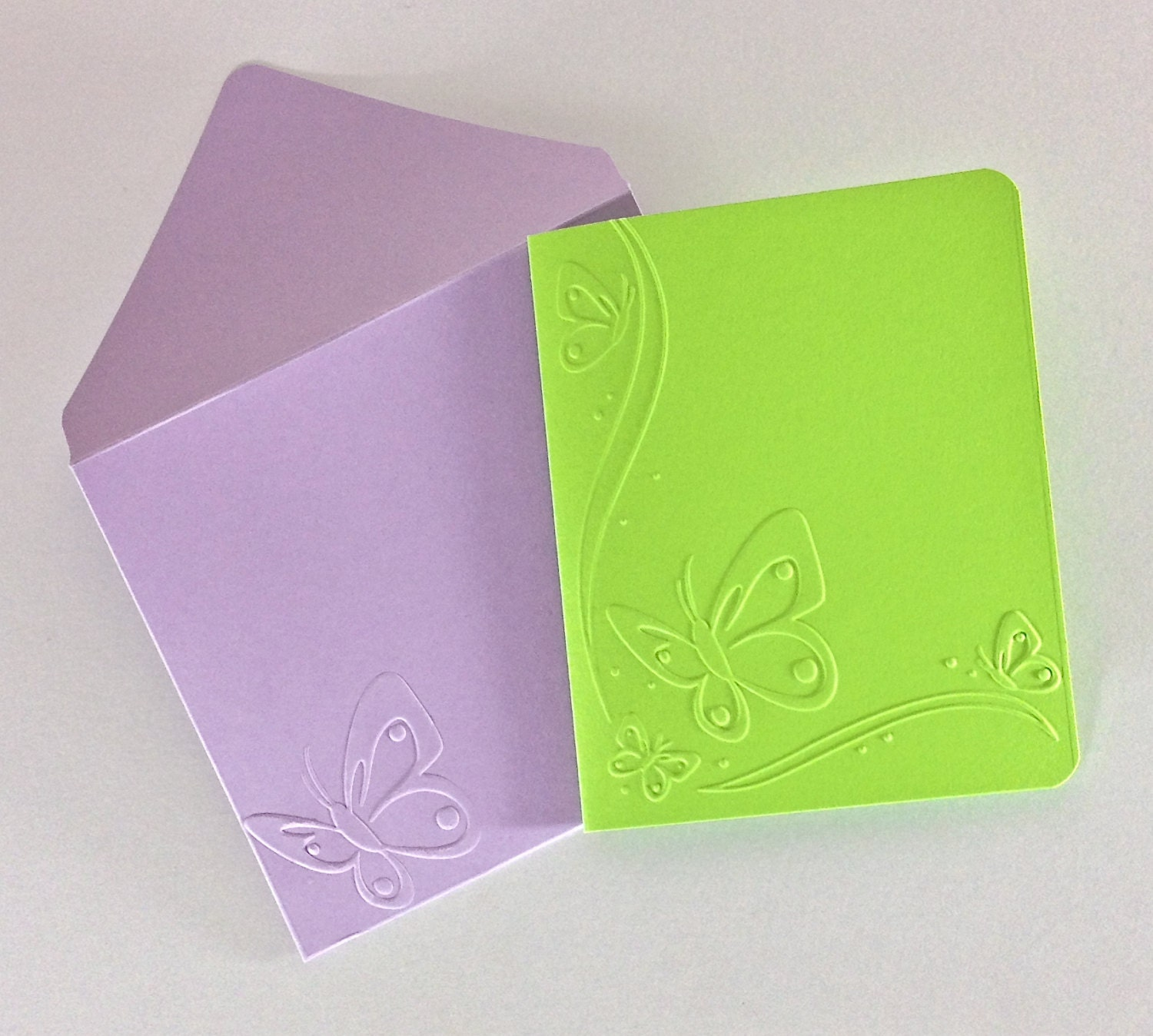 Download Butterfly Envelopes Handmade Embossed Butterfly Cards A2