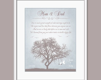 Parents Wedding Gift - Wedding Day Gift For Mom And Dad - Gift For ...