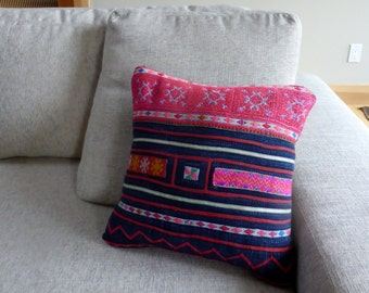 Vintage Hand Embroidered Pillow Cover #8