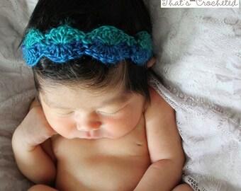 Newborn Headband - Newborn photography prop, newborn girl hat, crochet headband, baby headband