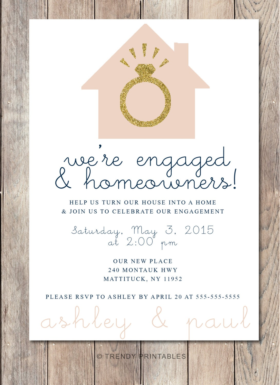 Engagement party invitation housewarming party invitation for Invitation for engagement party