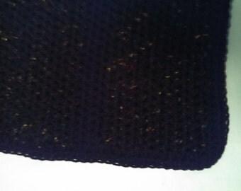 Black Tweed Crochet Afghan