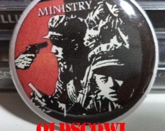 Ministry - Burning Inside Industrial Hardcore Punk Button Pin Badge