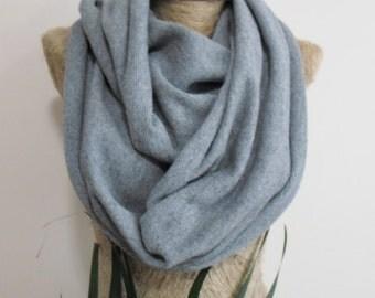 Gray tshirt scarf infinity scarf gift mens scarves wool tshirt scarf men scarves men thsirt scarf mens gift shades of gray birthday gift