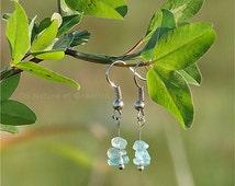 Silver earrings, Blue apatite jewelry, healing gemstone jewelry, natural gemstone earrings, vegan earrings, vegan jewelry, nature earrings