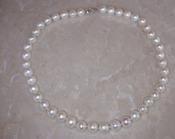 Sterling and Freshwater Pearl Necklace