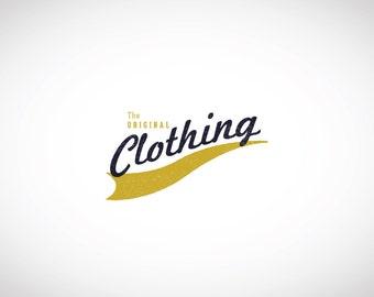 VINTAGE LOGO - Custom Premade Logo, Ribbon Insignia Logo, Custom Business Logo Design, Premade Watermark Logo, Graphic Design