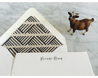 Letterpress Personalized Stationery Note Cards