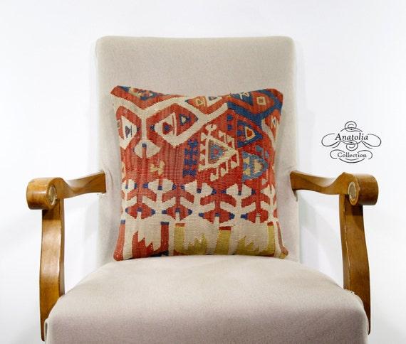 Items Similar To Pastel Turkish Kilim Rug Pillowcase