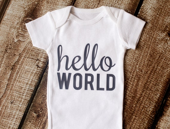 Going Home Outfit Hello World Newborn Outfit Baby Shower