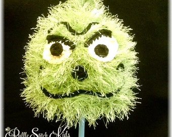 Ready To Ship Pre-Made Hand Crochet Dr Seuss' The Grinch Beanie Hat 3-6 months