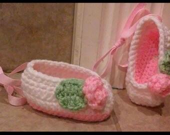 ballerina, baby girl,gift,ballet,handmade,newborn ballet slippers