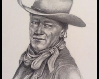 John Wayne, Pencil Drawing