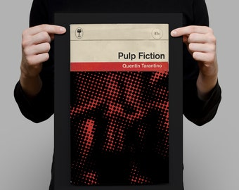 PULP FICTION Movie Poster Pulp Fiction Poster Pulp Fiction Print Quentin Tarantino Poster Tarantino Print Penguin Classics Print Ribba
