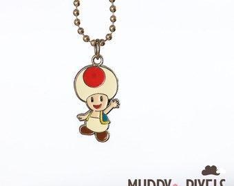 Mario Bros Necklace featuring Toad
