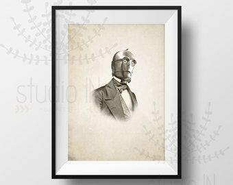 STAR WARS character C-3PO - Vintage style Star Wars character print, c3po print, Vintage style print, Vintage c3po poster, Star Wars print,