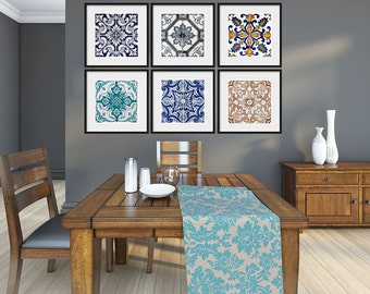 Portuguese Tiles Posters - Poster Art - Modern Art - Traditional Tiles - Azulejos - Pack of 6 Posters - SKU - PTPPoster