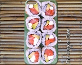 Sushi Phone Case, Sushi Roll Phone Case, Salmon Roll Case, Iphone 4/5/5c/6/6+, Samsung Galaxy Wallet Case S3/S4/S5/S6