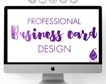 Professional Business Card Design (Printing options below)