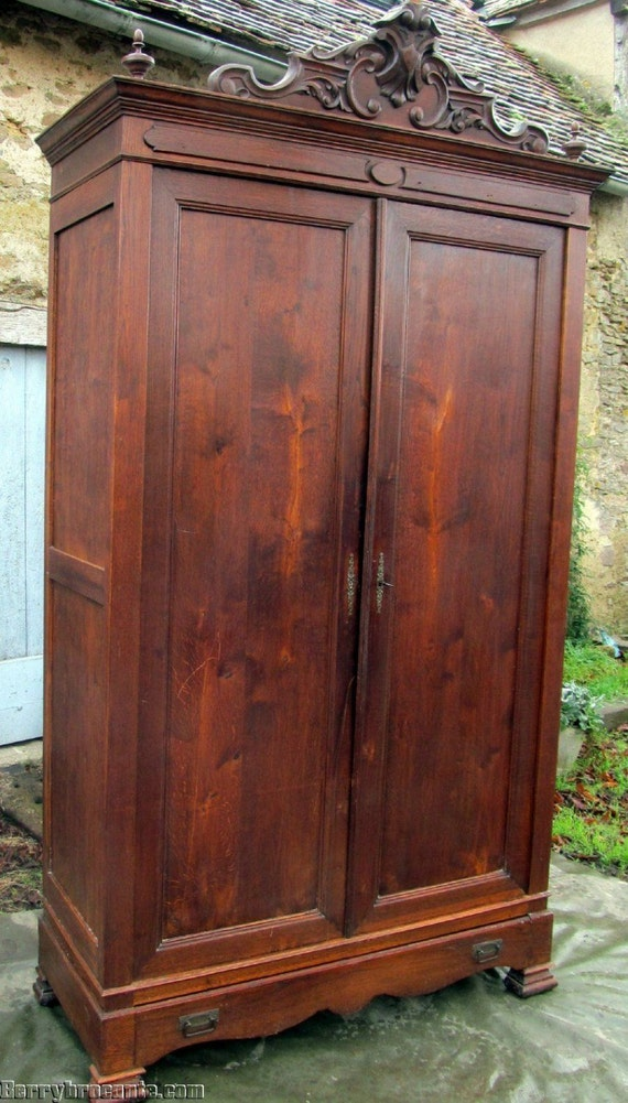 items similar to antique french normandy armoire wardrobe. Black Bedroom Furniture Sets. Home Design Ideas
