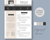 3pk Resume Template with Photo and Cover Letter for WORD
