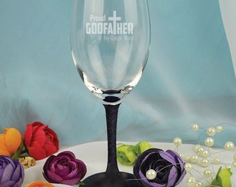 Godfather Laser Engraved Wine Glass Gift