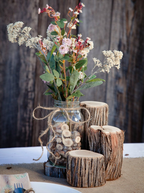 Centrotavola Matrimonio Stile Rustico : Articoli simili a pacchetto di centrotavola matrimonio