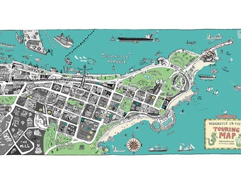 Newcastle on Foot Map