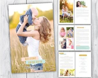 magazine template / photography magazine template / newborn magazine template / photography welcome magazine / photography welcome guide