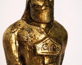 Thor - Handmade gilded sculpture