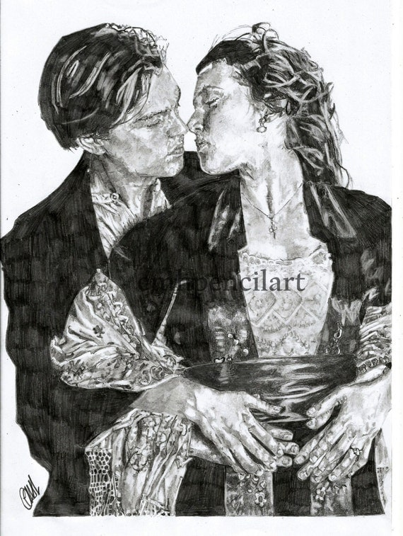 Titanic Pencil Drawings And Rose a4 Pencil Drawing