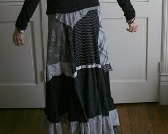 Bohemian Gothic Upcycled Skirt / by Breathe-Again Clothing