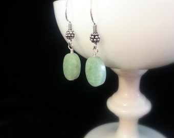 Elegant Amazonite and Sterling Silver Earrings
