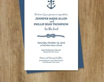Nautical Wedding Invitation, DIY Printable Wedding Invite ... Timeless, Classic, and Elegant ▷ Printed Wedding Invitations {or} Printable