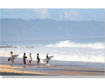 Northshore Hawaii surfers / Pipeline photo   NorthShore Oahu surfing photo   Beach photo   Hawaii photo    canvas art   Ocean Photo /