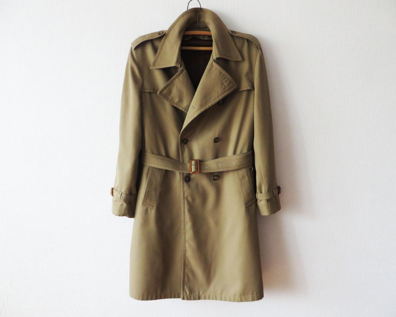 trench vintage homme coat beige kaki trenchcoat de classique. Black Bedroom Furniture Sets. Home Design Ideas