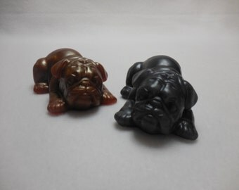 Bulldog Soap - Handmade Decorative Soap - Moisturizing Glycerin Soap - Cocoa Butter - Party Favor Animal Soap - Kids Gift Soap - Dog Soap