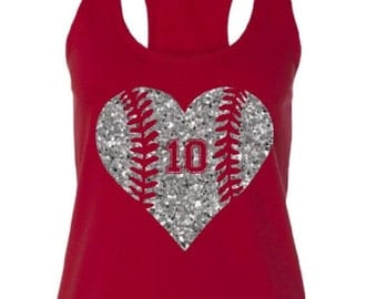 Baseball Mom Shirt.Baseball Mom Tank Top.Glitter Baseball.Softball Mom.Softball Mom Shirt.Custom Baseball. Baseball Tank. Softball Mom Tank
